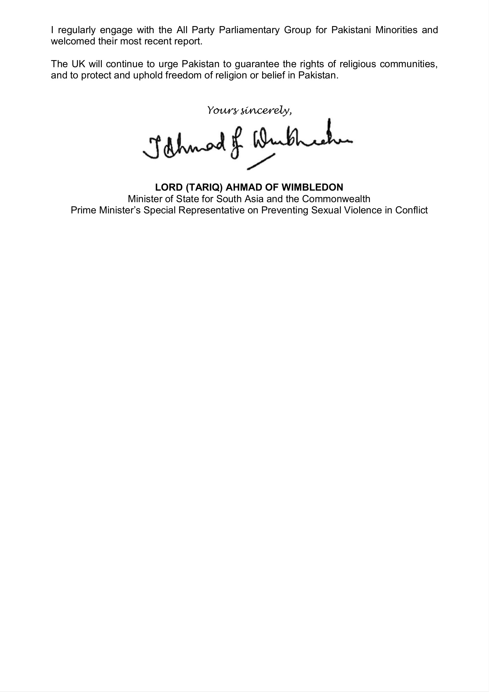 2 Letter from Lord Ahmad of Wimbledon to Trupti Patel 10032021